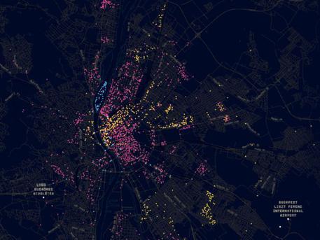 Térkép a budapesti térfigyelő kamerákról (forrás: ATLO)
